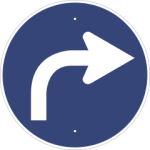 Traffic sign turn right
