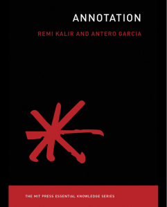 Book cover of Annotation by Remi Kalir and Antero Garcia