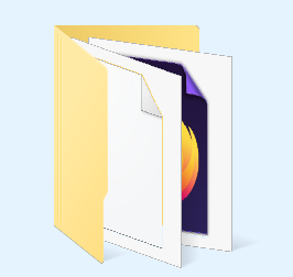 An icon of a folder containing icons of  a plain file and a Firefox bookmark URL.